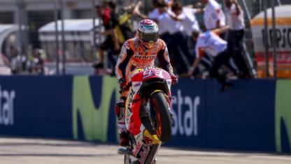 foto: MotoGP: Marc Márquez acaricia el Mundial en Aragón y su pacto con la historia