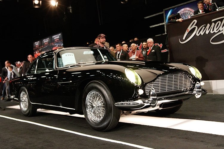 The Aston Martin DB5 that broke all the records at the auction. Photo: Barrett-Jackson