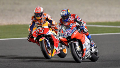 foto: MOTO GP | Duelo de altura en QatarGP entre Dovizioso y Márquez que gana el italiano