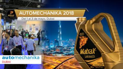 foto: MatraX Lubricants estará presente en la feria Automechanika Dubai, del 1 al 3 de mayo