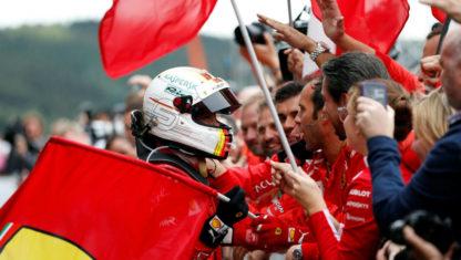 foto: Vettel gana en Bélgica y acorta su distancia con Hamilton en la general