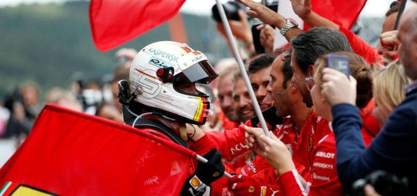 Vettel gana en Bélgica y acorta su distancia con Hamilton en la general