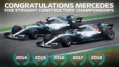 foto: GP Brasil: Hamilton entrega el título de Constructores a Mercedes