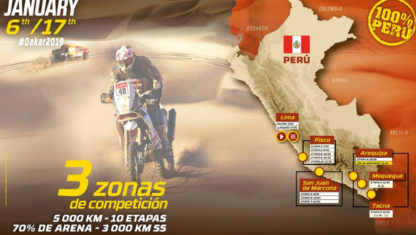 foto: El recorrido del Dakar 2019: 10 etapas épicas en Perú