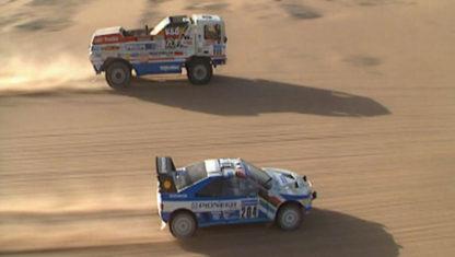 foto: El camión que adelantó a 200 km/h a un coche en el Dakar 1988