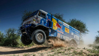 foto: El 'salto' más grande de un camión en el Dakar