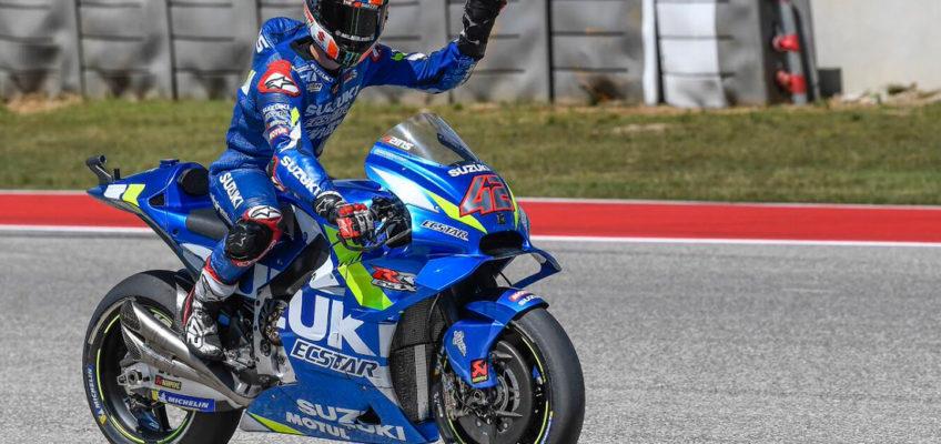 GP de Las Américas MotoGP 2019: Victoria de Rins ante Rossi y caída de Márquez