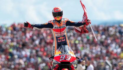 foto: Márquez se exhibe en Aragón y podría coronarse en Tailandia