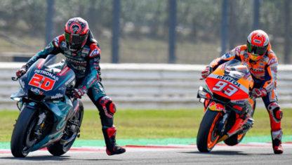 foto: GP San Marino MotoGP 2019: Márquez vence a un peleón Quartararo