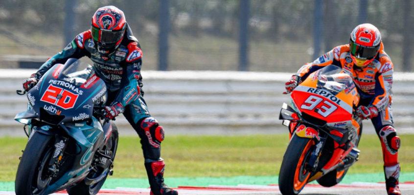 GP San Marino MotoGP 2019: Márquez vence a un peleón Quartararo