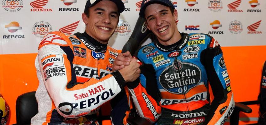 Álex y Marc Márquez, juntos en el HRC de MotoGP en 2020