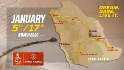 foto: Este es el recorrido del Dakar 2020 en Arabia Saudí