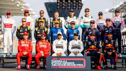 foto: Esta es la parrilla de Fórmula 1 de 2020