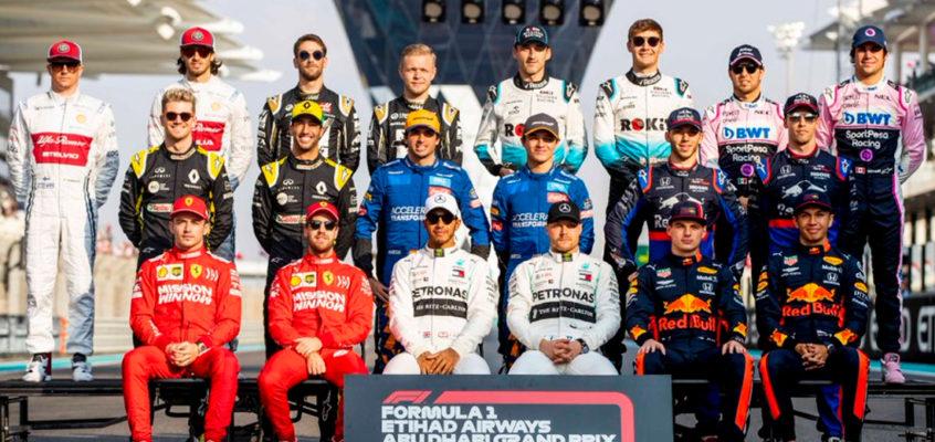 Esta es la parrilla de Fórmula 1 de 2020
