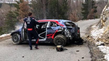 foto: Accidente brutal de Tänak en el Rally de Montecarlo