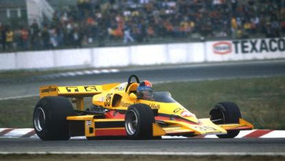 foto: Hans Heyer, el 'polizón' en una carrera de F1