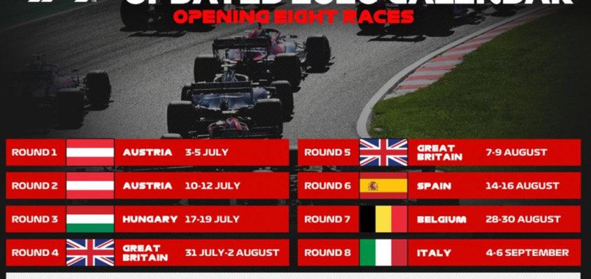 OFICIAL: Estas son las 8 primeras carreras del Mundial de F1
