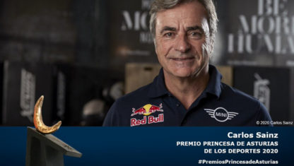 foto: Carlos Sainz, Premio Princesa de Asturias de los Deportes 2020