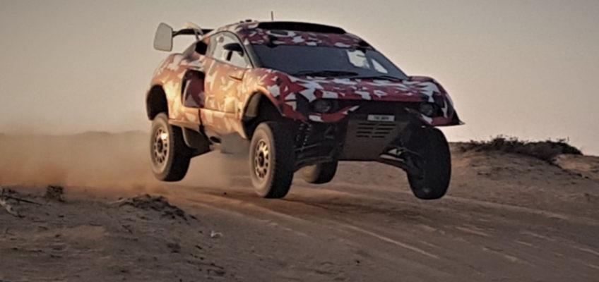 Test de Roma y Loeb con su coche para el Dakar 2021