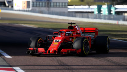 foto: Debut de Carlos Sainz con un monoplaza de Ferrari