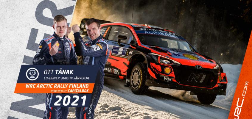 Rally Ártico Finlandia: Tänak impone su ley y Rovanperä, nuevo líder del WRC