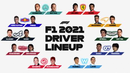 foto: Esta es la parrilla de pilotos de la Fórmula 1 2021