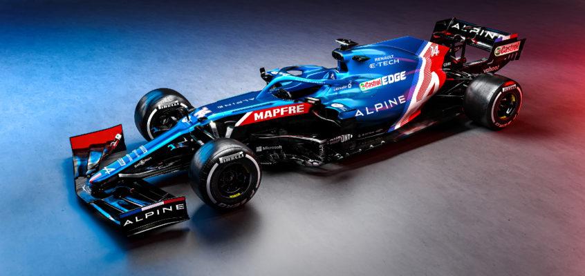 El Alpine A521 de Alonso para su vuelta a la F1
